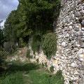 mura presso la valle