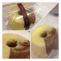 プレーン&チョコのマーブルシフォンケーキ