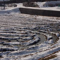 田んぼは氷が張っています!!