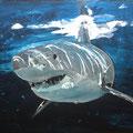 Shark II, Acryl, 70 x 100