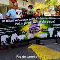 Manifestazione a Rio de Janeiro.