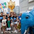 Manifestazione a Hong Kong.