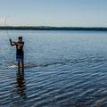 Äschenfischen auf etwas andere Weise, Schweden 2013.