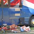 Campingplatz mit Busparkplatz