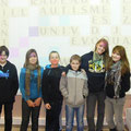 Jeunes présents sur le centre de Valentigney (Lucas, Marie, Nicolas, Nathan,Virginie et Marine)