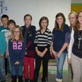 Jeunes présents sur le centre de Morteau (Quentin, Eric, Lilian, Coraline, Louise, Léa, Louise, Sarah et Romane - Jean-Baptiste est absent)