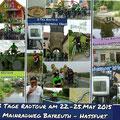 RTC Butzbach: Mainradweg Bayreuth - Hassfurth (169 km) von 22. bis 25. Mai 2015