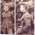 Photos ayant servi comme portraits incorporés au livret militaire