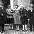 Mars 1930 - Pierre Baude à gauche-Denise Ruchard au centre