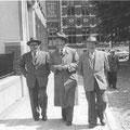 de gauche à droite : Paul Lermigneaux - Georges Charles - Fernand Goffart
