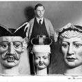 Le sculpteur René Schergen et les nouvelles têtes des géants nivellois en 1950