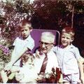1962 - Avec ses petits-enfant Philippe, Gérald et Alain