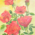 huile sur toile ( roses) taille 70/50 prix 95 euros