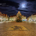 Neumarkt in Oschatz zu Weihnachten