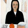 W. in ihrer Küche. 2010.
