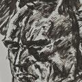 Boceto de Batman. Tinta.