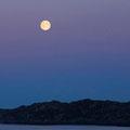 Auf der Gegenseite geht der Mond auf.