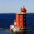 Kjeungskjær fyr ist ein Leuchtturm vor der norwegischen Küste auf einer kleinen Schäre vor Ørland.