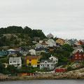 Kristiansund ist eine farbenfrohe Stadt.