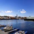Blick auf Vardø vom hafen