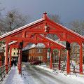 Die alte Stadtbrücke in Trondheim.