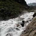 Abfluss der Gletscherzunge.