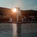 In Molde ging schon langsam die Sonne unter.
