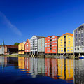 Die Speicherhäuser von Trondheim.