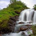 Wasserfall auf dem Vikafjell