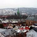 Blick vom Hügel der Festung auf Trondheim.