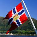 Jeden früh wurde die Flagge des Postschiffes gehisst!