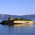 Strahlender Sonnenschein und die Festung Munkholmen