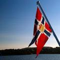 Die Fahne der MS Kong Harald - unser Markenzeichen.