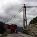 Die Pfeiler der Hardangerbrücke stehen schon.