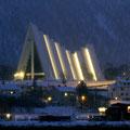Die Eismeerkathedrale im Abendlicht.