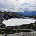 Eis und Schnee auf dem Gipfel