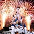 Wishes - фейрверк над замком Спящей Красавицы