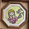 森の妖精 ~レンゲショウマ~ (30×30)  8500円