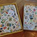 集まった使用済み切手