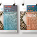 Ville de Genève | La Ville expose sa Maquette | affiches des trois expositions | phase 1 et 2.