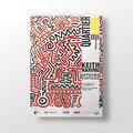 SIG | exposition Keith Haring – Affiches vintage | réalisation de l'affiche ainsi que de toute la déclinaison des supports média.