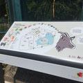 Ville de Genève | Parc animalier du Bois de la Bâtie | table d'orientation | illustrations: Nicole Conus.