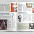 """Exposition """"Nous Autres"""" MEG. Journal disponible dans les couloirs. Double page."""