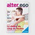 aalter_ego | couverture. Projet de magazine de rencontre – maquette no zéro – octobre 2006. Projet en collaboration avec Chatty Ecoffey.