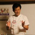 今日の料理は河村副会長のフルコースです。