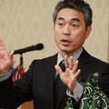 ゲストスピーカーの山田芳生様 メンバーの山田くんのお兄様です。