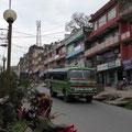 Gorkha zieht sich ewig den Berg hoch - wo ist endlich das Hotel?