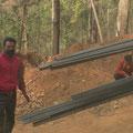 Bauarbeiter wundern sich