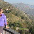 Blick vom Hotel in Dhulikhel