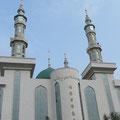 eine weithin sichtbare Moschee